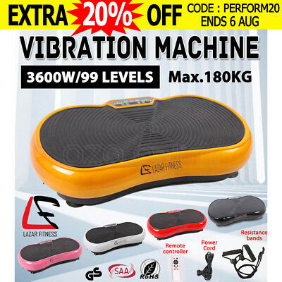 2000W Slim Vibration Machine Trainer Plate Platform Fitness Exercise Body Shaper