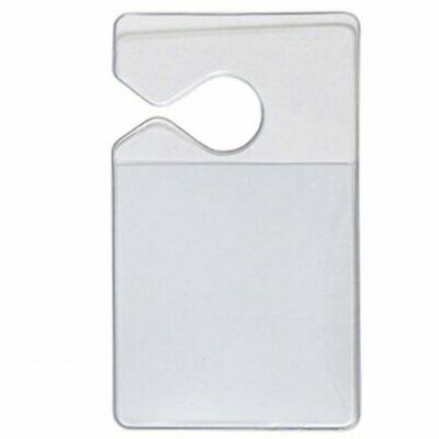 100 Pack - Clear Vertical Vehicle Parking Pass Hang Tag Holders by Specialist ID