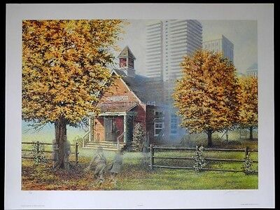 "Children-Farm Scene-""Days Gone By""-James Lumbers-L/E-S/N-Lithograph-Art- Prints"