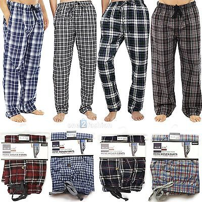New Mens Pyjamas Lounge Pants Cotton mix Bottoms Trousers Nightwear Pj PJS