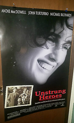 Unstrung Heroes (1995) Original Movie Poster 27x40 Double Sided Andie Macdowell