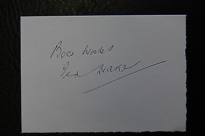Ted Drake Arsenal & England  Signed Card