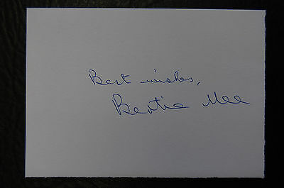 Bertie Mee  Arsenal 1971 League & Fa Cup Double  Signed Card