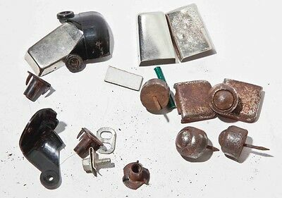 Vintage Guitar Amplifier Steamer Trunk Hardware Lot tob