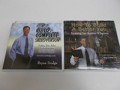 ! 2 Set Lot Bryan Dodge How To Build A Complete Sales Person & Better You 10 CD