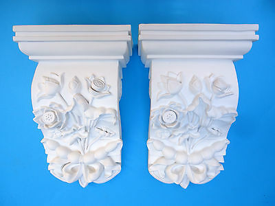 Pair of Corbels - Quality Strong Resin - Not Polystyrene - 200 x 115 x 315mm