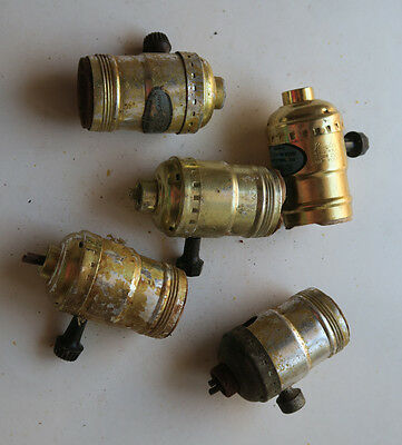 Lot of 6 socket parts with switch key for Vintage Banquet boudoir lamp Leviton
