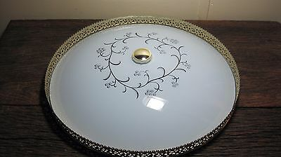 Vintage Mid Century Ceiling Light Fixture Replacement Glass Shade Repair Parts • CAD $50.34