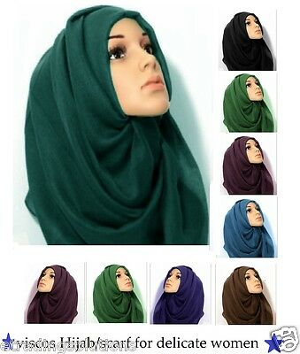 Plain Maxi Scarf Hijab Shawl {Many Colours Available} *vis
