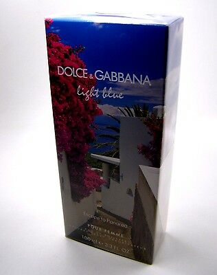 Dolce & Gabbana light blue femme Escape to Panarea Edt 100 ml * Neu / in Folie *