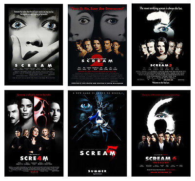 Horror Movie Scream POSTER OPTIONS A3 A4 WALL ART BUY 1 GET 2 FREE POSTERS