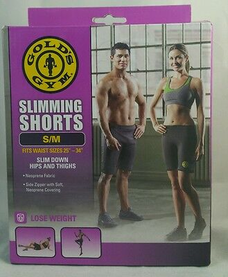 "Golds Gym Slimming Shorts Slim Down Hips & Thighs - S/M - Waist 25""-34"" USA"