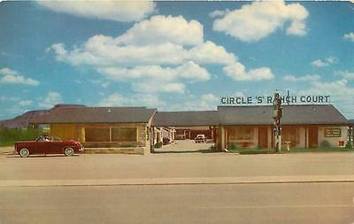 TUCUMCARI, NM New MEXICO CIRCLE S RANCH Court Route 66 c1950s Car Postcard