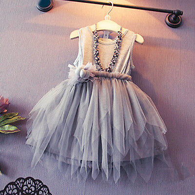 1-6Y Girls Kids Toddler Baby Princess Party Pageant Wedding Tulle Tutu Dresses