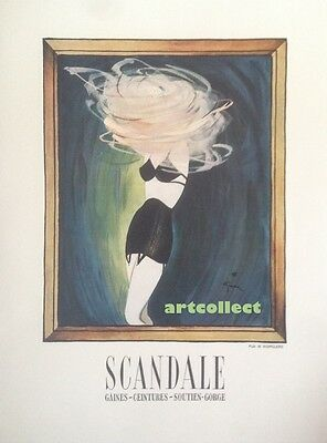 Original Vintage French Ad (1946): Scandale. Movado Watch.