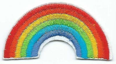 Rainbow Embroidered Patch Iron-on Gay Pride Flag Good Luck