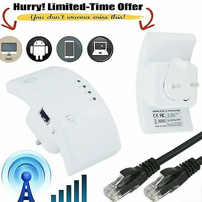 300Mbps Wireless N 802.11 AP Wifi Repeater Range Router Extender Smart Booster