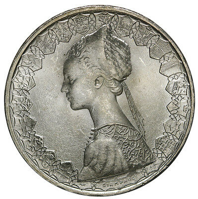 1958 Italy 500 Lire KM# 98  Silver Coin BU Snow White Luster