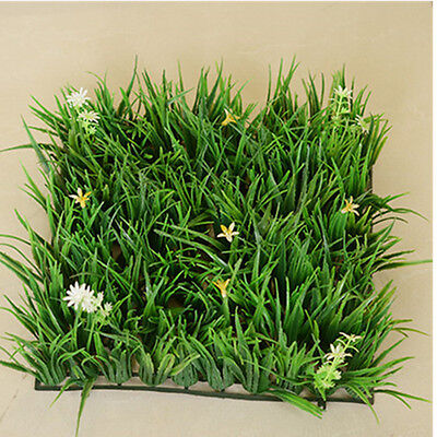 Artificial Plastic Lawn Turf Flower Plants Grass Lawns Carpet Home Garden Decor