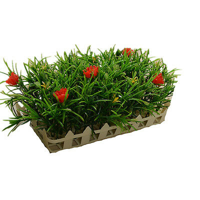 21cm Plastic Artificial Fence Lawn Turf Plants Daffodils Grass Home Garden Decor
