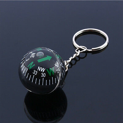 28mm Ball Key buckle Liquid Filled Compass exact Hiking Travel Outdoor Survival