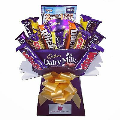 Cadbury Variety Chocolate Bouquet - Sweet Hamper Tree Explosion - Perfect Gift