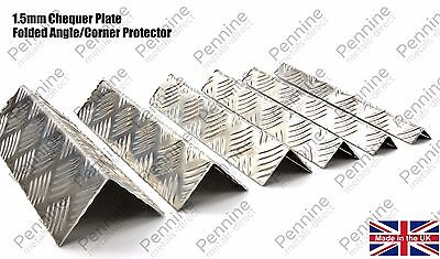 Folded Angle Corner Protector - 1.5mm Chequer Plate 7 Sizes & 15 Lengths DIY