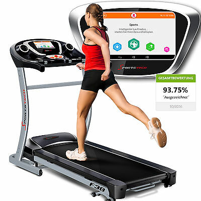 Sportstech F38 professional treadmill 6.5 HP foldable 15% incline 9 inch Androi