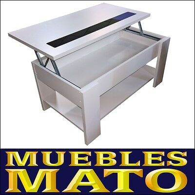 Mesa De Centro Elevable Color Blanco ¡muebles Mato! Md. Julia