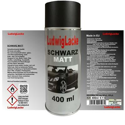 Lackspray Schwarz matt Spraydose 1 x 400 ml Spraydose