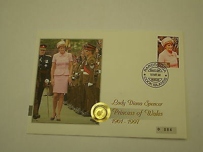 Cook Inseln 1997 5 Dollars Gold Numisbrief Lady Diana Princess of Wales  PP