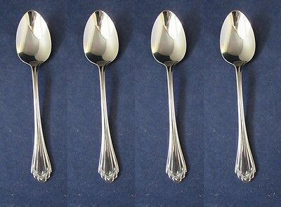 SET OF FOUR - Oneida Stainless MARQUETTE Teaspoons NEW
