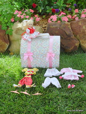 Retired Sammie Trunk Set by Effanbee 9 Inch Doll plus Wardrobe
