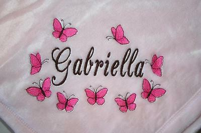Personalized Baby Blanket Embroidered Tahoe Fleece Monogram Gift Girl or Boy