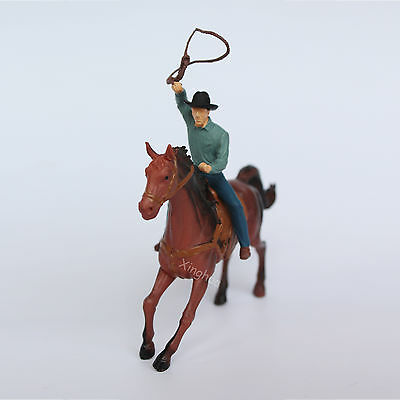 Cowboy and Horse Model Statue Figure Mini Western American Style Resin Toy