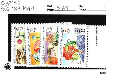 Cyprus Stamps Scott 966-969 MNH Low Combined Shipping