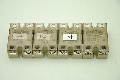 Lot of (4) Omron G3NA-210B, Solid State Relays (amm)