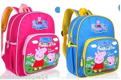 Peppa Pig George School Nursery Bag Backpack Rucksack Bag Pink Blue Boys  Girls 98f9398817c69