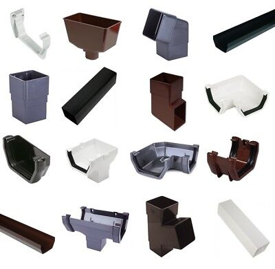 Square Line Guttering & Downpipe - Plastic Gutter Pipe Fittings Marshall Tufflex