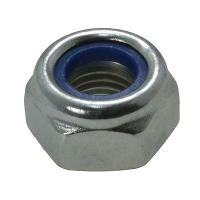 Qty 100 Metric Fine Hex Nyloc Nut M12 (12mm) 1.50mm Pitch Zinc Plated Insert ZP