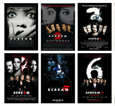 Horror Movie Scream SAW POSTER OPTIONS A3 A4 WALL ART BUY 1 GET 2 FREE POSTERS