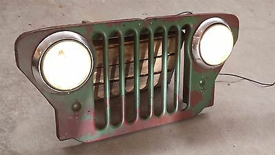 """1950 US ARMY JEEP Grill Automotive Wall Art Retail Display """"Watch Video"""""""
