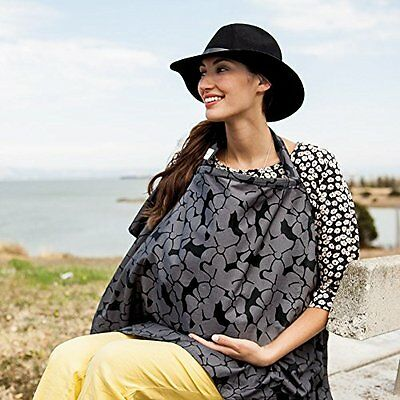 Bebe au Lait Organic Cotton Nursing Cover, Midnight