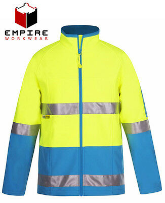 Hi Vis Soft Shell Jacket with Reflective Tape