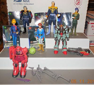 """2001 Bandai Mobile Suit Gundam 4"""" Action Figure collection Lot of 8 HTF Rare"""