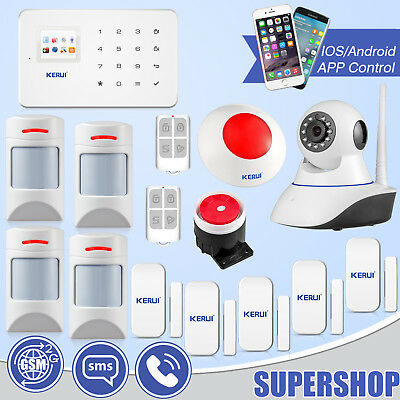 Kit Pet Immune PIR Sensor KERUI G18 Wireless GSM SMS Alarm System WiFi IP Camera