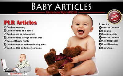 700+ PLR Articles on Baby Niche Private Label Rights