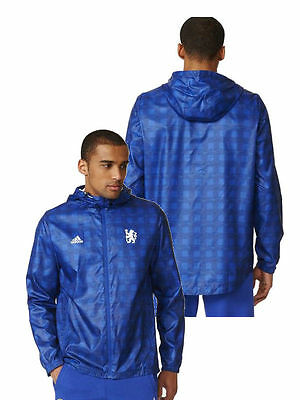 Chelsea London Fc Adidas regen Jacke Wind Jacket 2016 17 Windrunner Blau