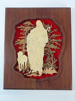 Jesus The Shepherd Wood Scroll Saw Art Wall Plaque Hand Made