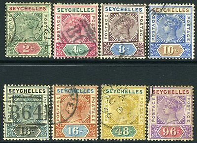 SEYCHELLES-1890-92 Die I Set to 96c Sg 1-8 FINE USED V10661
